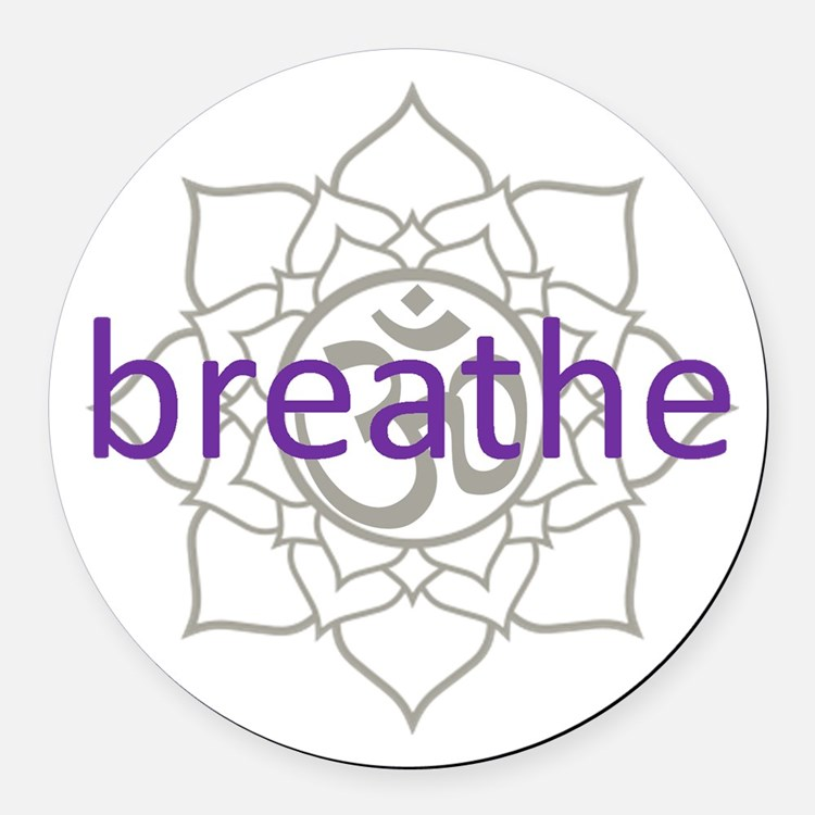 purplebreathe.png Round Car Magnet