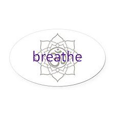 purplebreathe.png Oval Car Magnet