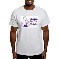 Pimpin' In the USA Ash Grey T-Shirt