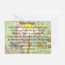 Nurse Prayer Blanket Size Yellow.PNG Greeting Card