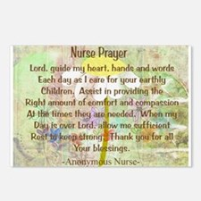 Nurse Prayer Blanket Size Yellow.PNG Postcards (Pa