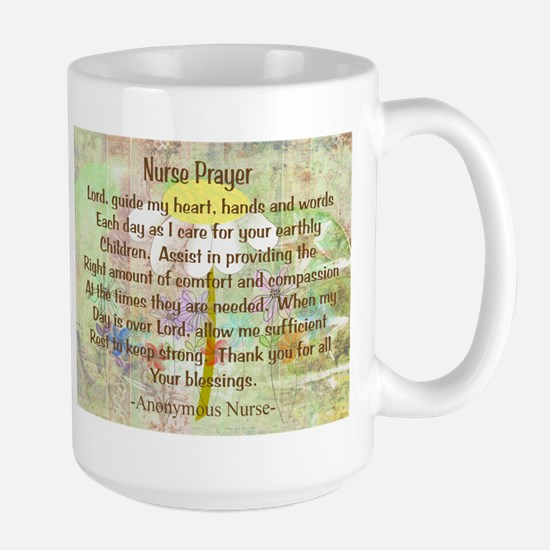 Nurse Prayer Blanket Size Yellow.PNG Large Mug