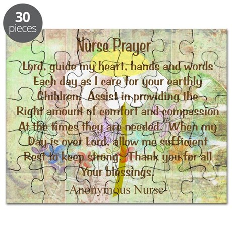 Nurse Prayer Blanket Size Yellow.PNG Puzzle