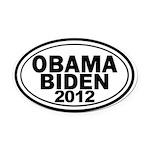 Obama-Biden 2012 Oval Car Magnet