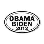 Obama-Biden 2012 20x12 Oval Wall Decal