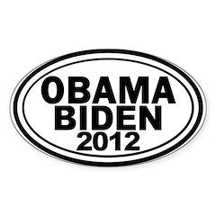 Obama-Biden 2012 Oval Bumper Decal