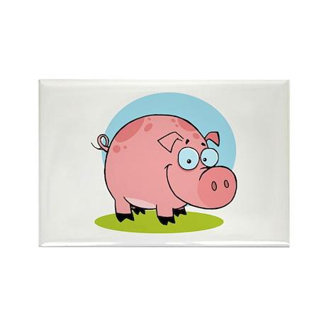 Pig Rectangle Magnet (10 pack)