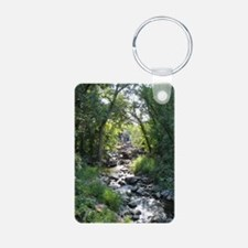 Lazy River Aluminum Photo Keychain