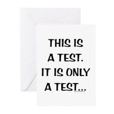 This is only a Test Greeting Cards (Pk of 10)