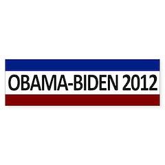 Obama-Biden 2012 RWB Bumper Bumper Sticker