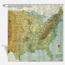 Vintage United States Physical Feat Shower Curtain