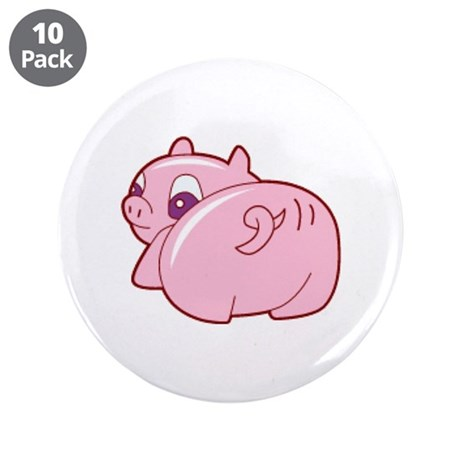 "Pig 3.5"" Button (10 pack)"