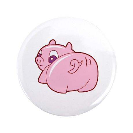 "Pig 3.5"" Button (100 pack)"