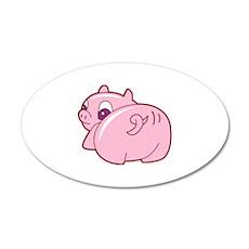 Pig 22x14 Oval Wall Peel