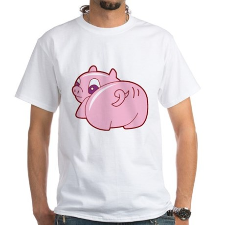 Pig White T-Shirt