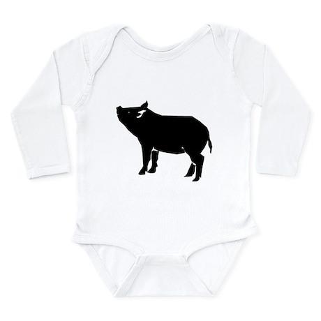 Pig Long Sleeve Infant Bodysuit