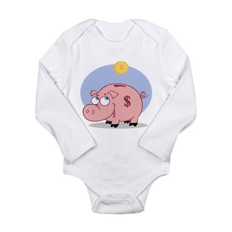 Pig Long Sleeve Infant Bodysuit