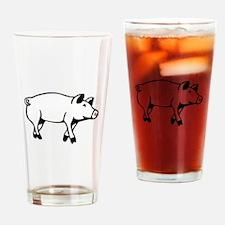 Pig Drinking Glass
