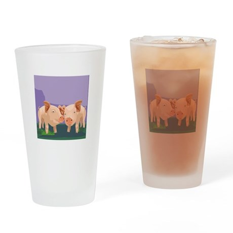 Pig Drinking Glass