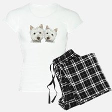 Two Cute West Highland White Dogs Pajamas
