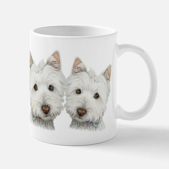 Two Cute West Highland White Dogs Mug