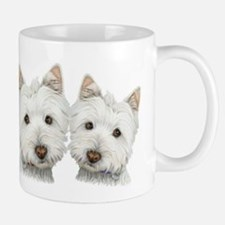 Two Cute West Highland White Dogs Small Small Mug