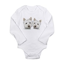 Two Cute West Highland White Dogs Long Sleeve Infa