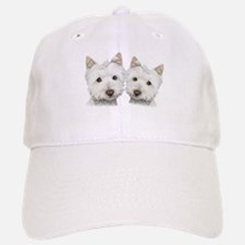 Two Cute West Highland White Dogs Baseball Baseball Cap