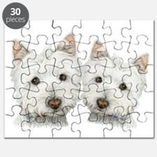 Two Cute West Highland White Dogs Puzzle