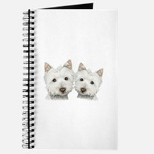 Two Cute West Highland White Dogs Journal