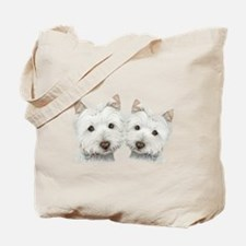 Two Cute West Highland White Dogs Tote Bag