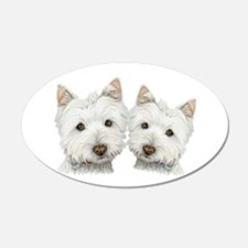 Two Cute West Highland White Dogs Wall Decal