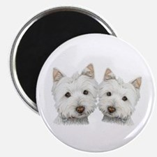 Two Cute West Highland White Dogs Magnet