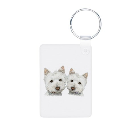 Two Cute West Highland White Dogs Aluminum Photo K