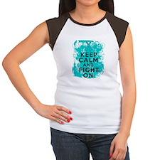 PCOS Keep Calm Fight On Women's Cap Sleeve T-Shirt