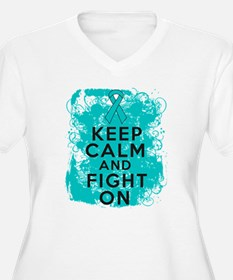 PCOS Keep Calm Fight On T-Shirt
