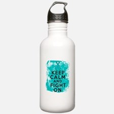 PCOS Keep Calm Fight On Water Bottle