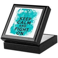 PCOS Keep Calm Fight On Keepsake Box