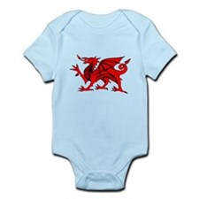 Cute Wales rugby Infant Bodysuit