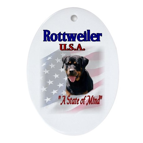 Rottweiler Gifts Oval Ornament