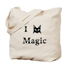 i love black cat magic witchcraft pagan wicca Tote