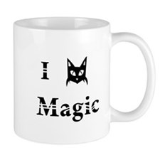 i love black cat magic witchcraft pagan wicca Mug