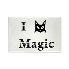 i love black cat magic witchcraft pagan wicca Rect