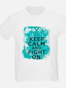 PKD Keep Calm Fight On T-Shirt