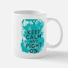 PKD Keep Calm Fight On Mug