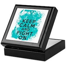 PKD Keep Calm Fight On Keepsake Box