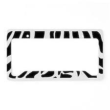 BLACK ZEBRA PRINT License Plate Holder