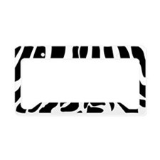 BLACK ZEBRA PRINT License Plate Holder