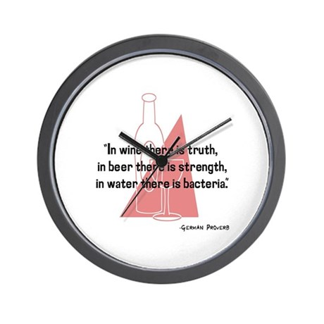 In wine there is truth..... Wall Clock