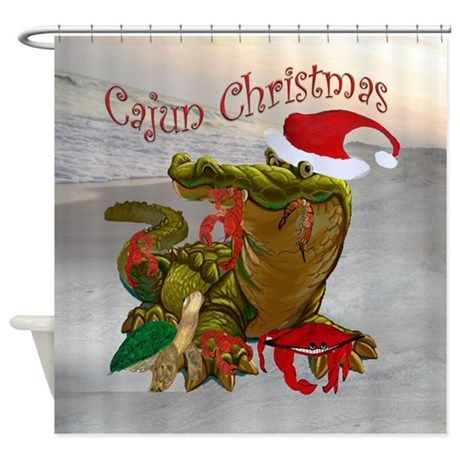 Cajun Christmas Shower Curtain